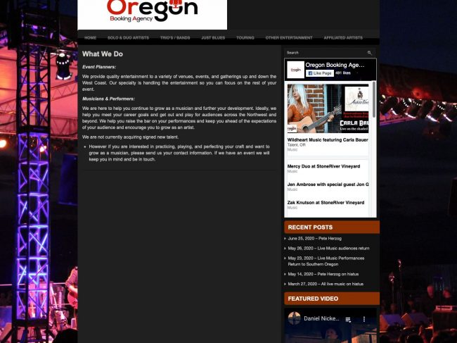 Oregon Booking Agency ORBA