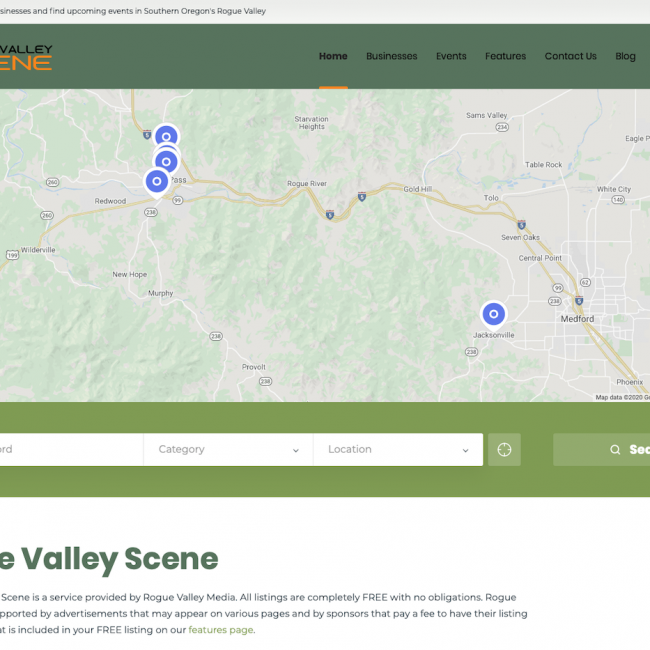Rogue Valley Scene – Free Business Directory and Event Listings