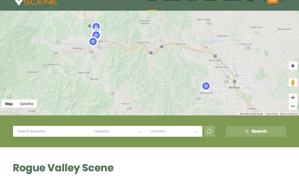 Rogue Valley Scene Home Page